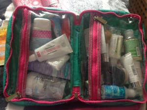 Post-labour toiletries!