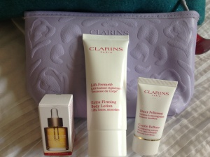 Lovely sample sized Clarins products