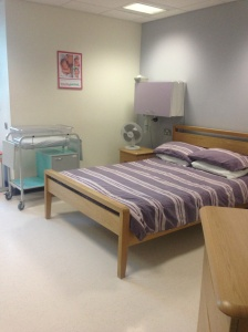 Private room in the maternity-led unit, UHW