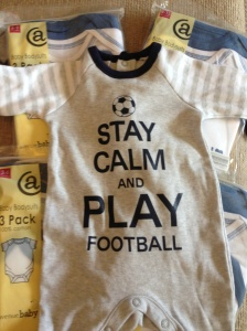 Football sleepsuit and lots of babygro's from Nanna!