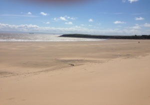 Beautiful Barry Island on W's first trip to the sea