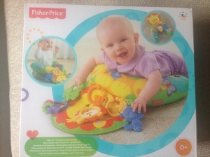 Fisher-Price tummy-time play wedge from the O'shea's - can't wait til he starts using that!