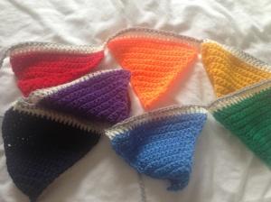 Mamgu's (my mum) knitted nursery bunting