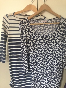My fave maternity tops - (L) New Look, (R) Red Herring at Debenhams