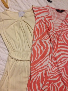 Maternity dresses from eBay I didn't wear: (L) Asos (R) Mothercare