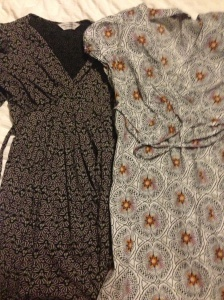 Maternity dresses from eBay - L (Dorothy Perkins) - R (Red Herring at Debenhams)