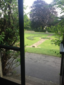 Lovely view from our yoga mat, Insole court, Cardiff