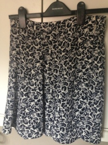 Black and white print skirt from Oasis