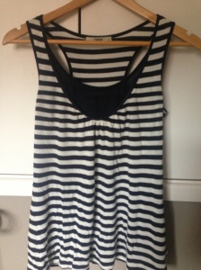 Stripey racer back vest top from Oasis