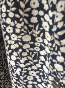 Extreme close-up of the blouse fabric