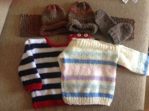 Knitted gifts from my family