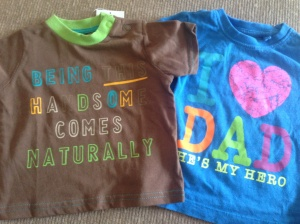 Brand new T-shirt from Tu on the left (50p) and one from Next on the right (£1)