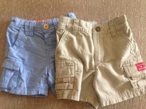 R: John Lewis Shorts (£1), tommy hilfiger shorts (£1.50)