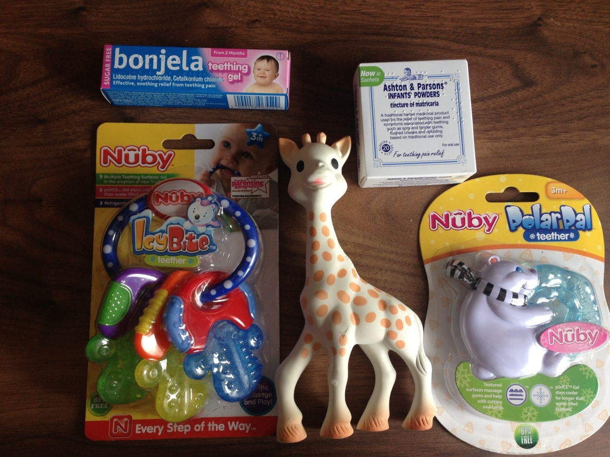 Some of our teething kit!