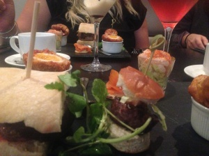 Gentleman's afternoon tea, Park Plaza, Cardiff