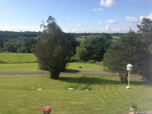 View from our room in Court Colman manor