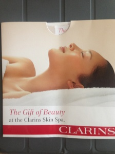 Lovely gift - Clarins mother-to-be treatment