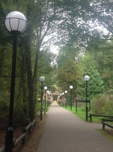 Even the walk to the spa is lovely at Center Parcs!