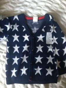 H&M stars baby boy cardigan