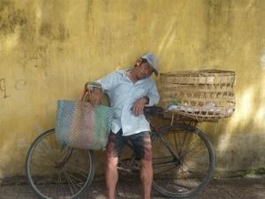 Sleeping man in Ho Chi Minh, Vietnam