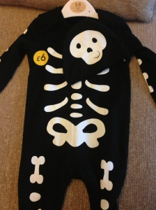 Skeleton outfit from Asda!