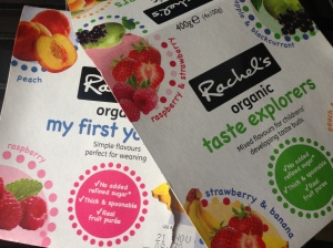 We like these Rachel's yoghurts - no added sugar!