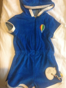 Little bird towelling romper (£10)