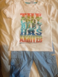 T-shirt and shorts from Tesco