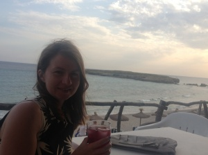 Me and a sangria in San Tomas, Menorca