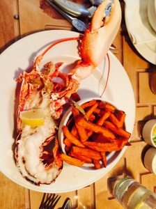 Tenby half lobster at the farmhouse grill