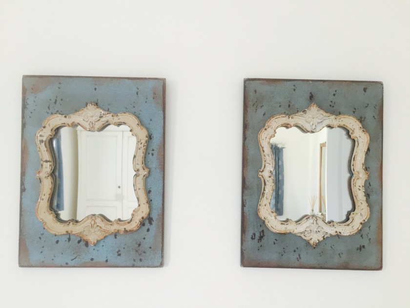 blue shabby chic mirrors