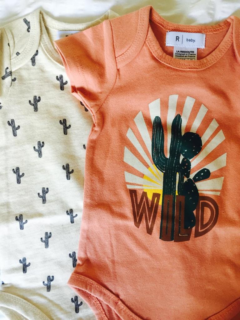 la Redoute cactus baby bodysuits