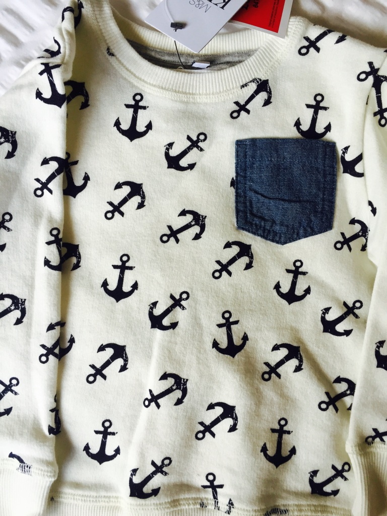 m  and s toddler anchor sweatshirt