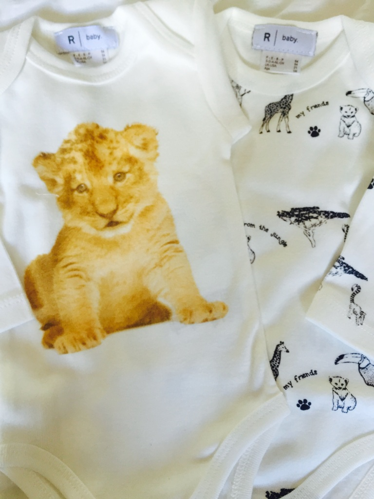 la redoute newborn lion animals long sleeve sleepsuits