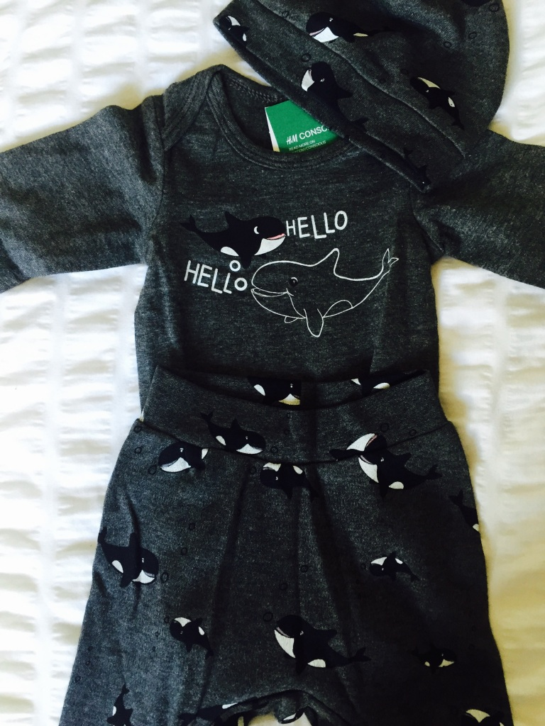 h and m  newborn orca outfit
