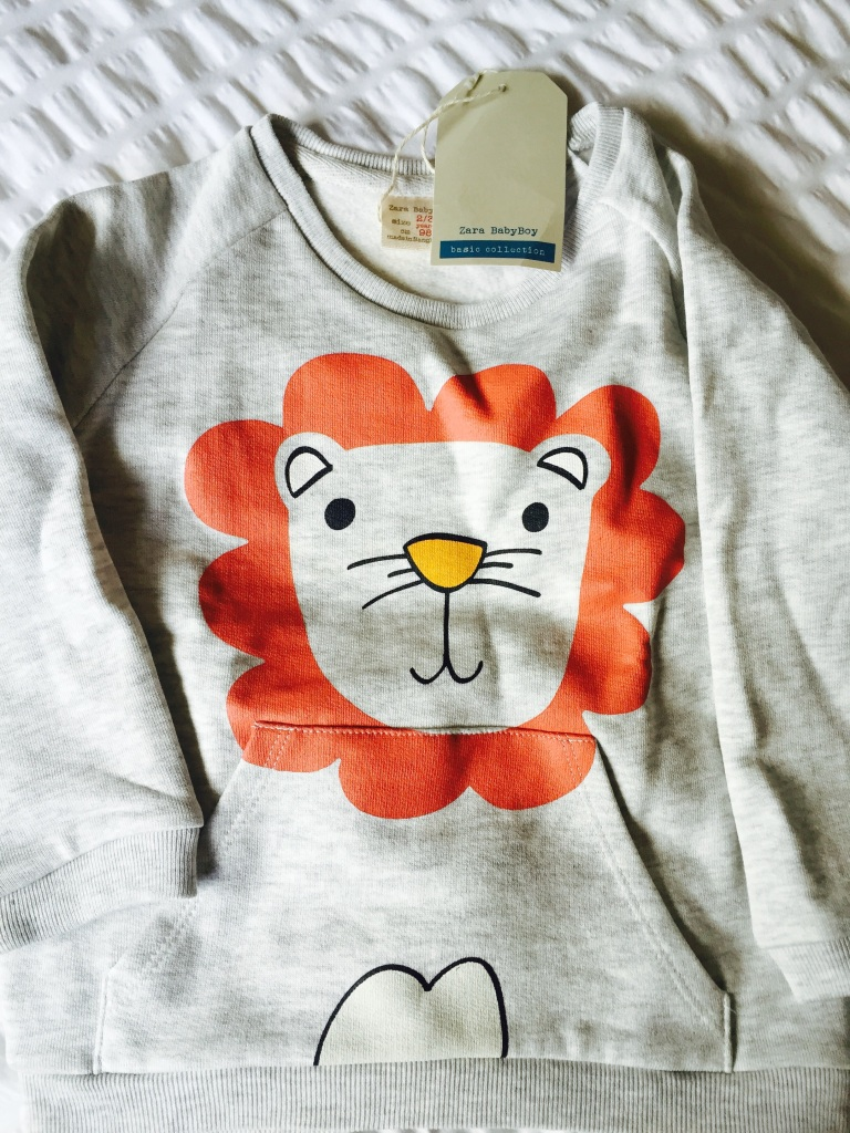zara toddler lion jumper
