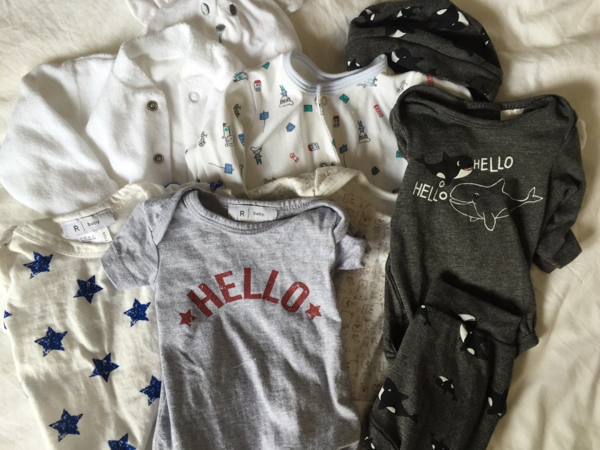 first clothes for our newborn
