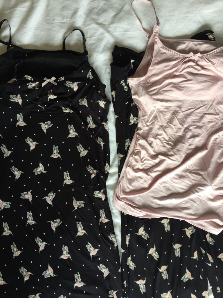 M&S maternity bird print nighty and pyjamas