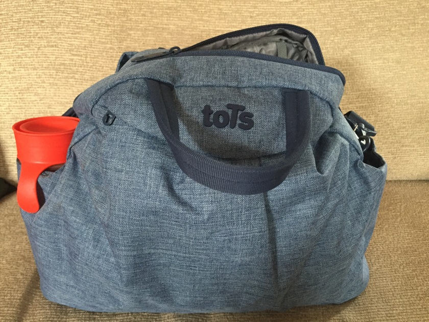 our Tots by SmarTrike bag ready to go!