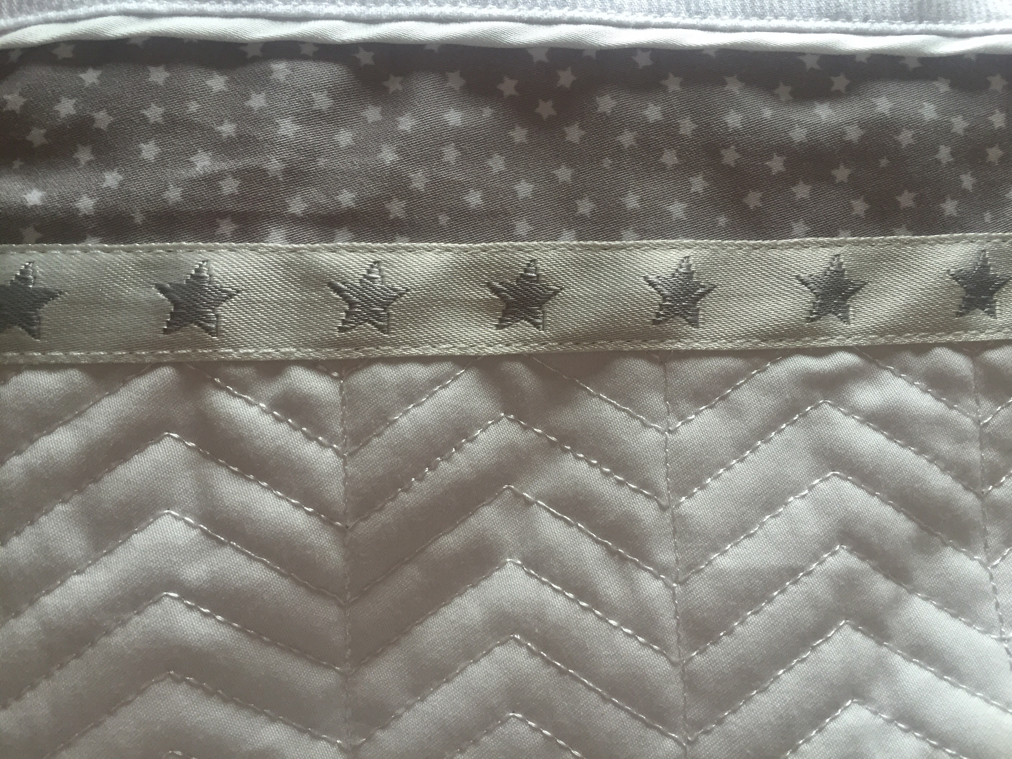 a0abad91 The fabric feels fantastic and tactile… It's quilted cotton with jersey  lining on the inside, making our babies even more cuddly than usual 🙂. silver  cross ...