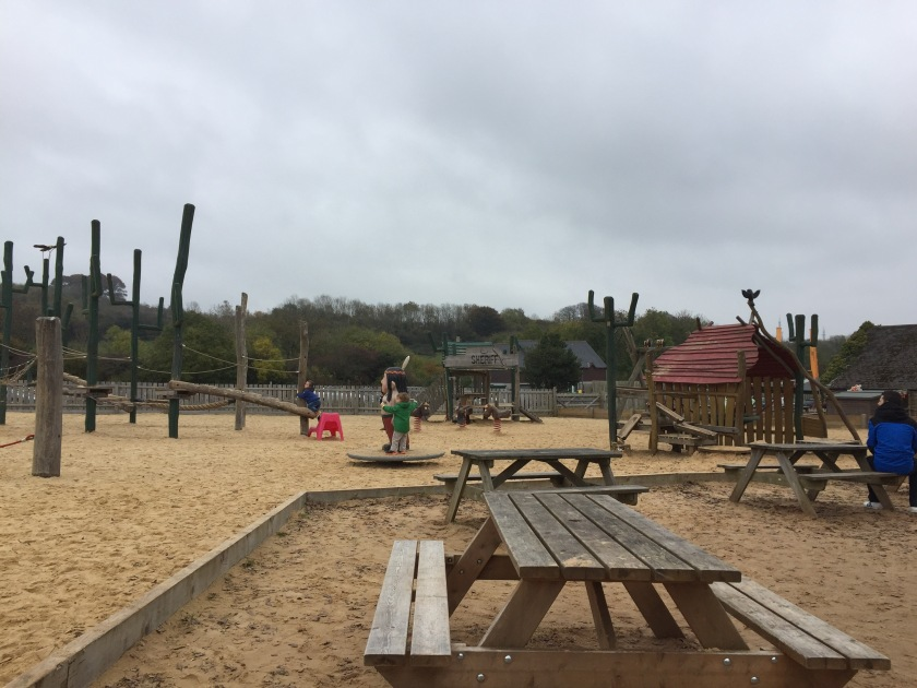 Sand play area at mountain view ranch