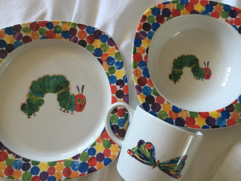 Portmeirion hungry little caterpillar dining set