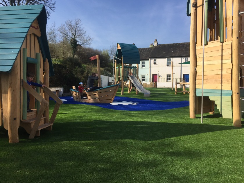 Bluestone play area