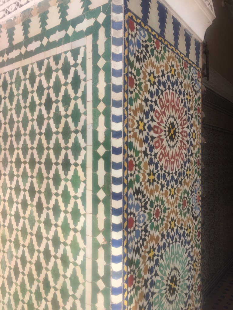 Morrocan tiles at entrance to ensemble artisanal