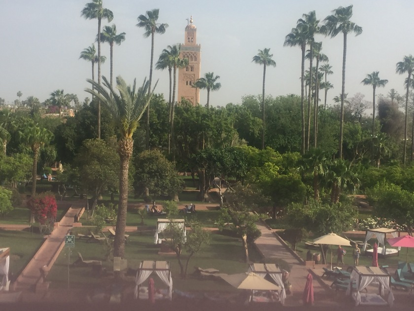 View over Medina gardens hotel Marrakesh