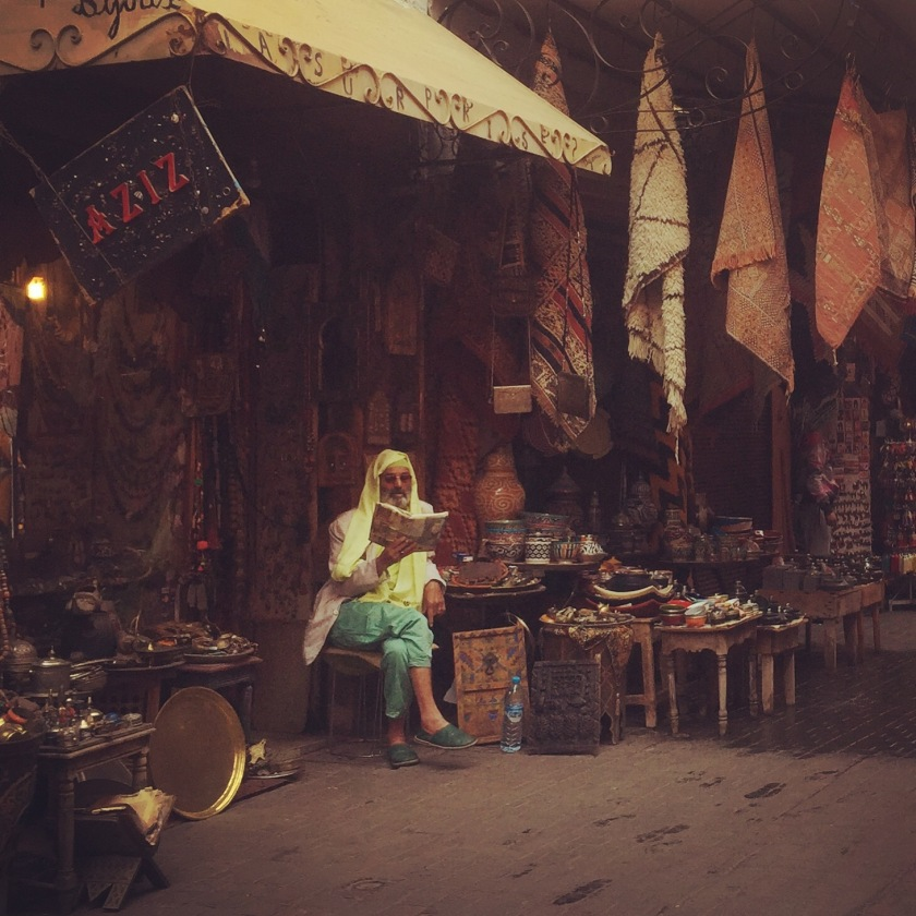 Stall holder Marrakesh souks