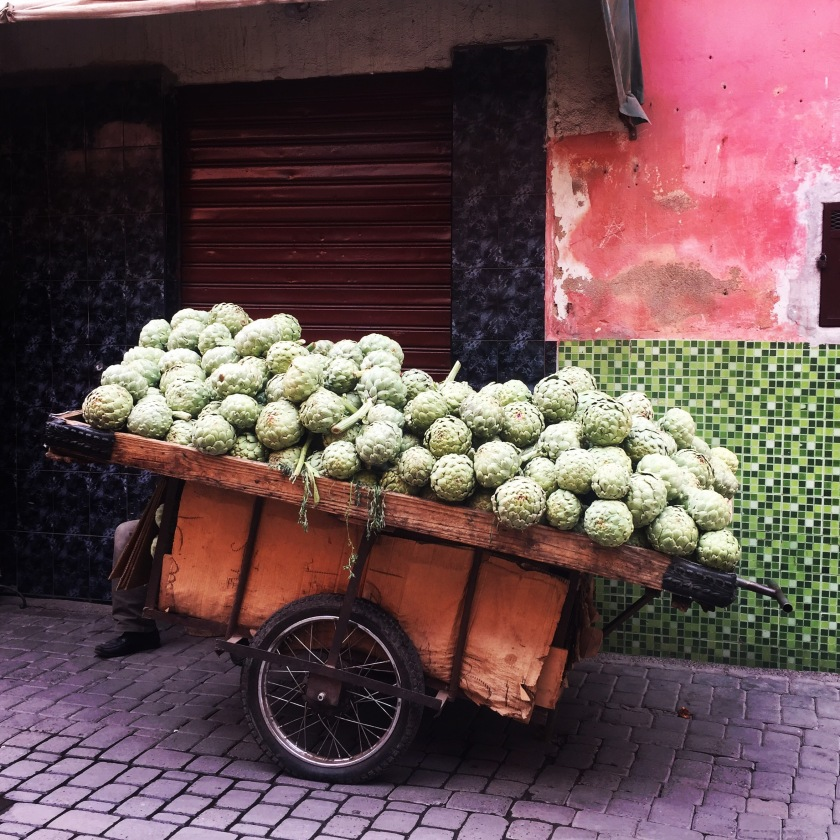 Fruit cart in Marrakesh medina