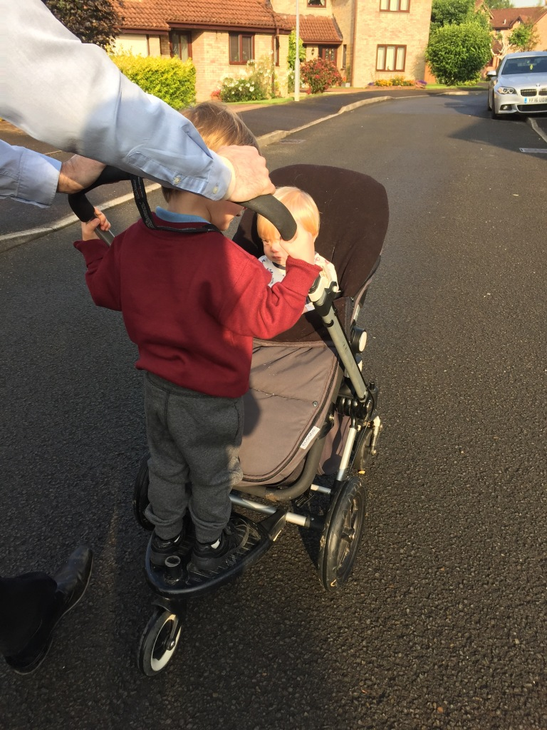 First ever school run!