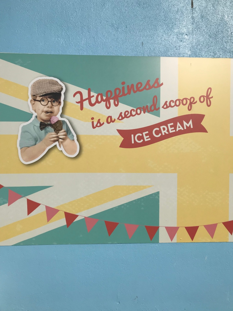 Butlins ice cream sign