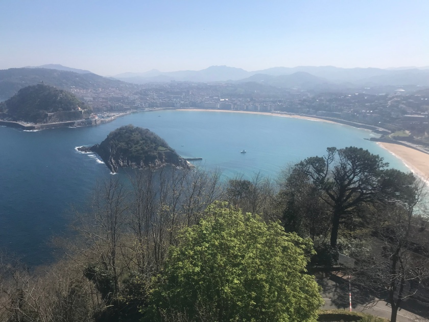 Views overlooking San Sebastián
